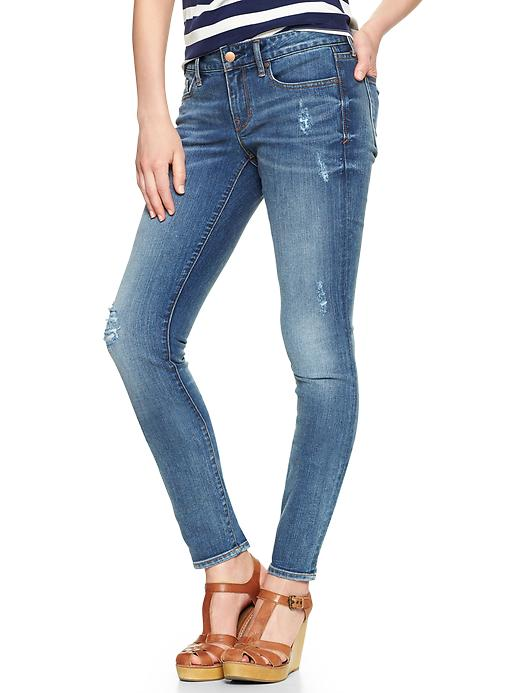 Gap 1969 Destructed Always Skinny Jeans - Galloway - Gap Canada