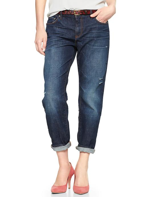 Gap 1969 Destructed Sexy Boyfriend Jeans - Marengo - Gap Canada
