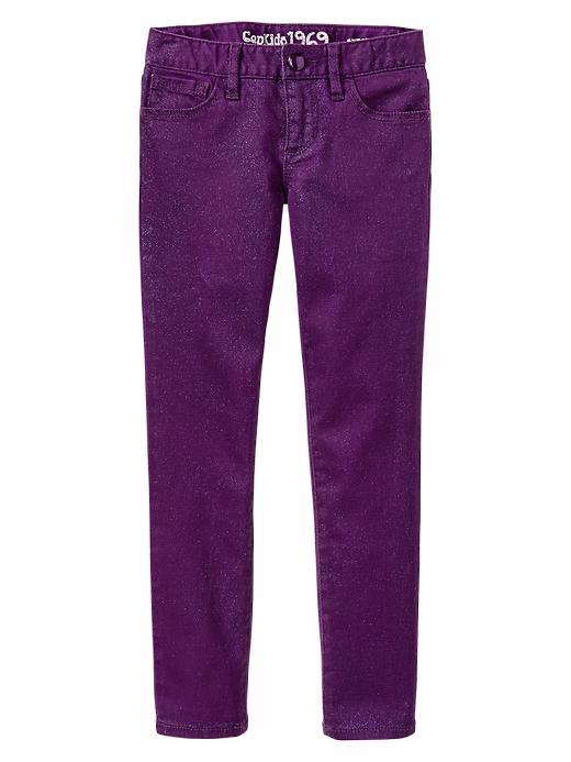 Gap 1969 Glitter Super Skinny Jeans - Varsity purple - Gap Canada
