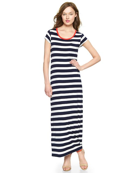 Gap Striped Maxi T Shirt Dress - Navy stripe - Gap Canada