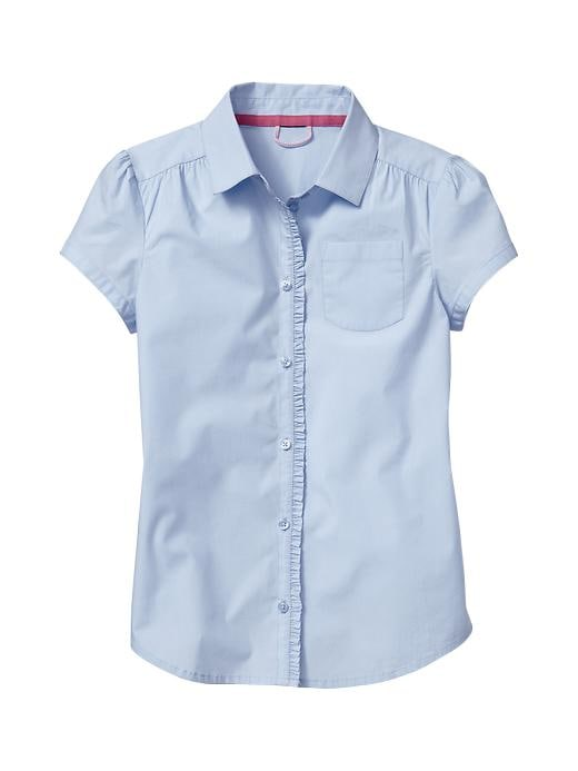 Gap Uniform Ruffle Shirt - Pure blue