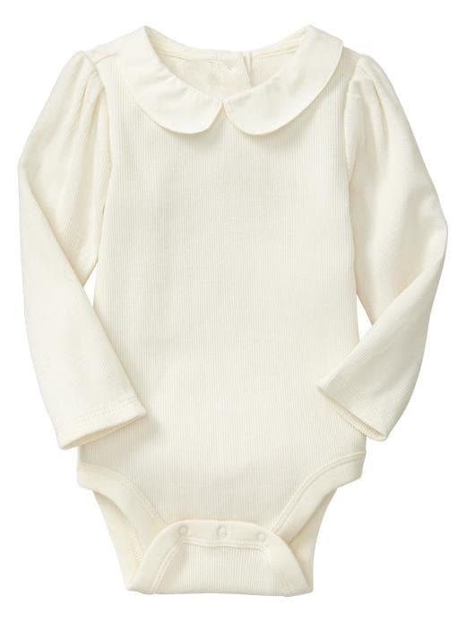 Gap Peter Pan Collar Bodysuit - Ivory frost - Gap Canada