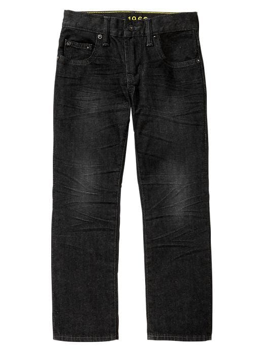 Gap 1969 Straight Jeans (Black Wash) - Black denim - Gap Canada