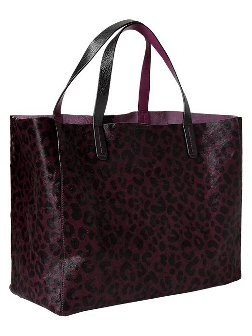 Gap Animal Print Calf Hair Tote - Beach plum - Gap Canada