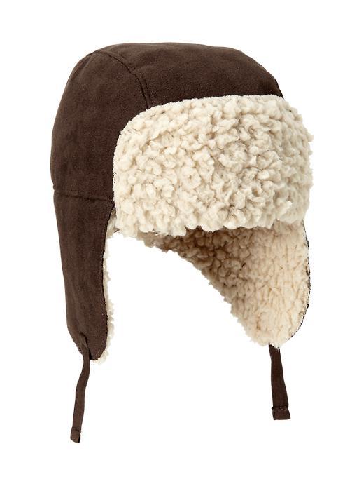 Gap Shearling Hat - Dark brown