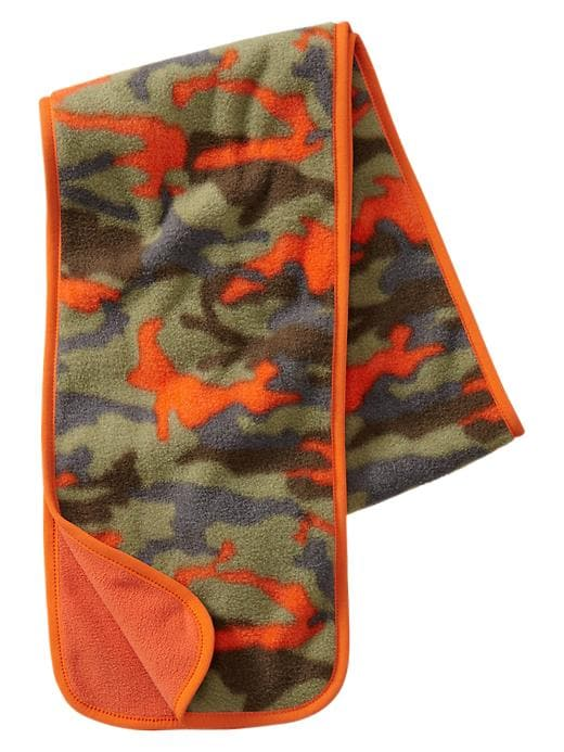 Gap Reversible Fleece Scarf - Olive camo - Gap Canada