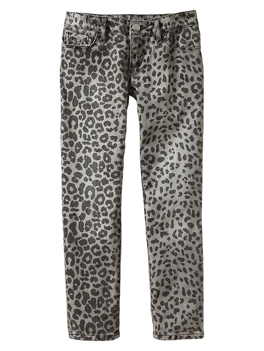 Gap 1969 Leopard Super Skinny Jeans - Dark graphite gray - Gap Canada