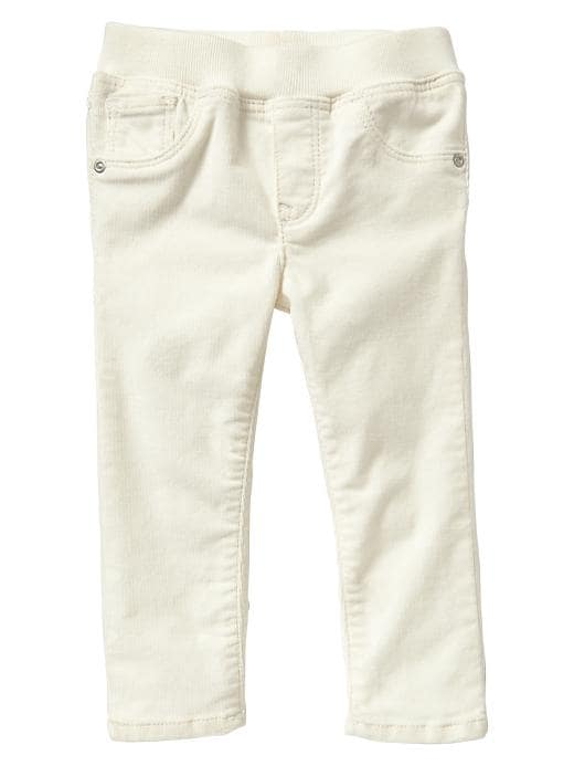 Gap Corduroy Knit Waist Jeggings - Ivory frost - Gap Canada