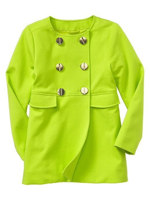 Gap Ponte Knit Coat - Lime punch