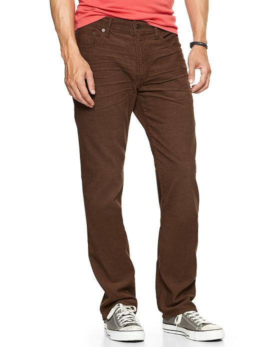 Gap 1969 Five Pocket Cord (Straight Fit) - Chocolate chip - Gap Canada