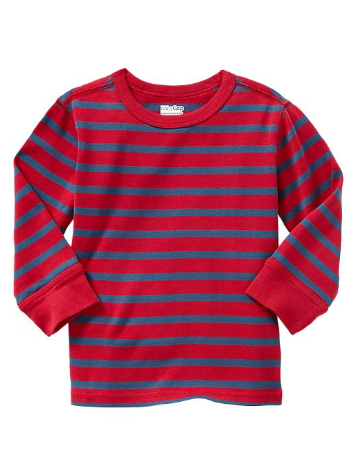 Gap Striped Ribbed T - Admiral red