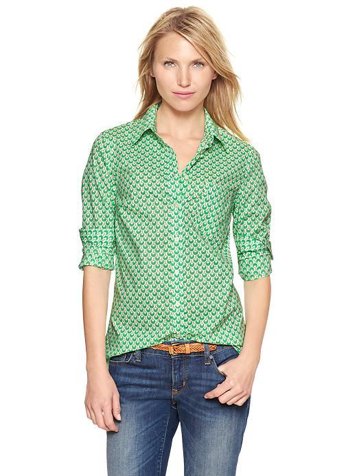 Gap Printed Boyfriend Shirt - Cherries - Gap Canada
