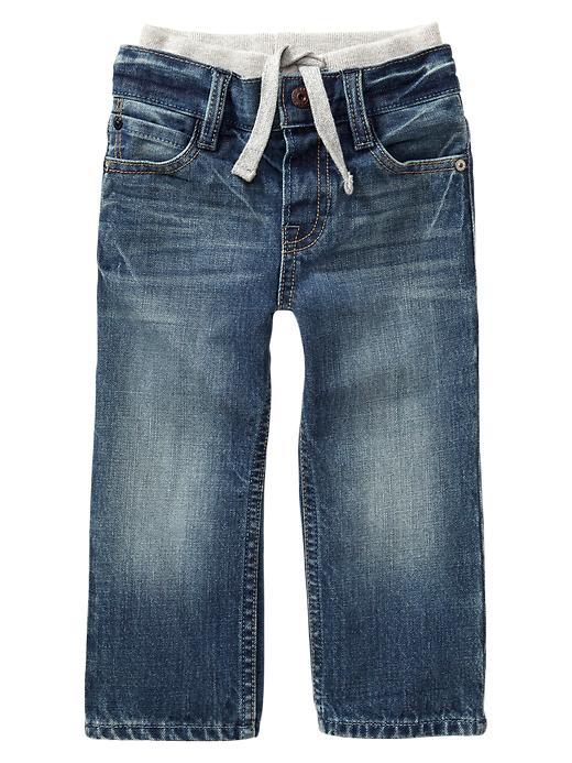 Gap Knit Waist Original Fit Jeans - Light wash - Gap Canada