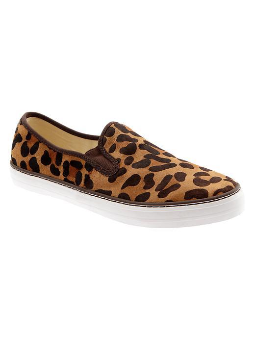 Gap Animal Print Slip On Sneakers - Leopard print - Gap Canada