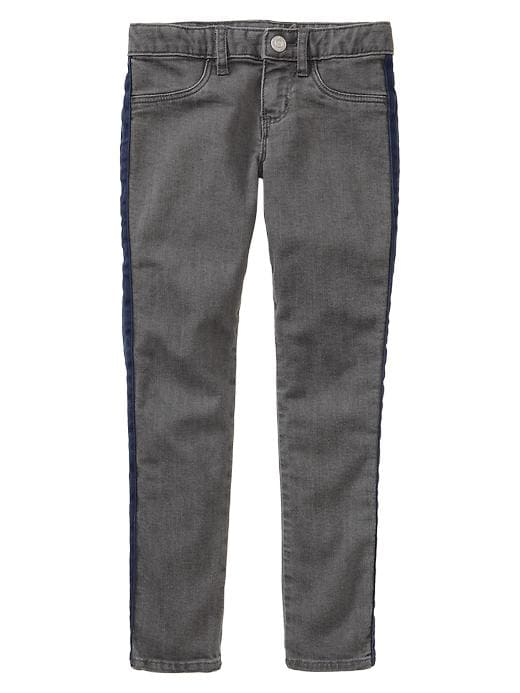 Gap 1969 Pop Stripe Legging Jeans (Gray Wash) - Grey denim - Gap Canada