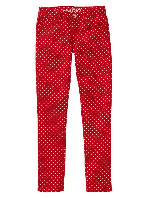 Gap 1969 Dot Super Skinny Jeans - Red wagon - Gap Canada