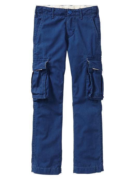 Gap Straight Cargo Pants - Pangea blue - Gap Canada