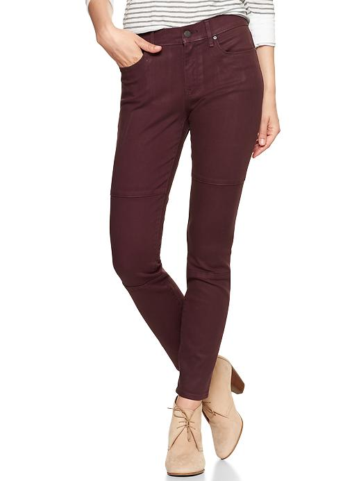 Gap 1969 Coated Biker Legging Jeans - Vamp red - Gap Canada