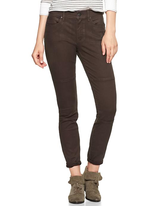 Gap 1969 Coated Biker Legging Jeans - Chocolate chip - Gap Canada