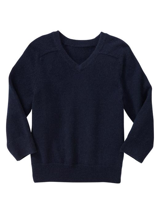 Gap Cashmere V Neck Sweater - Navy - Gap Canada