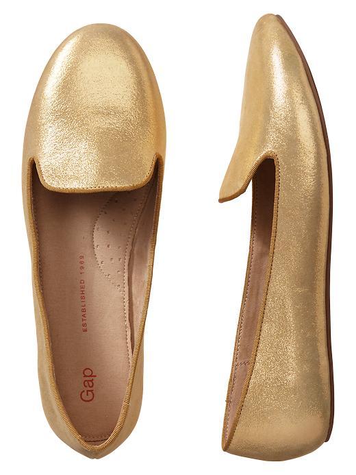 Gap Metallic Loafers - Metallic gold - Gap Canada