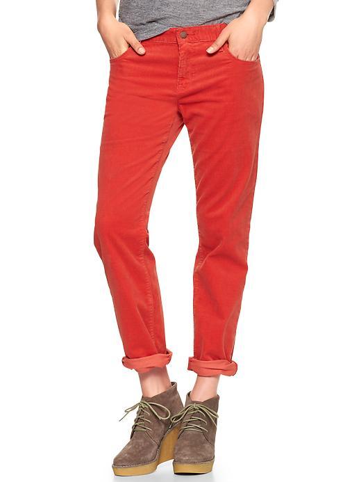 Gap 1969 Sexy Boyfriend Cords - Red silk