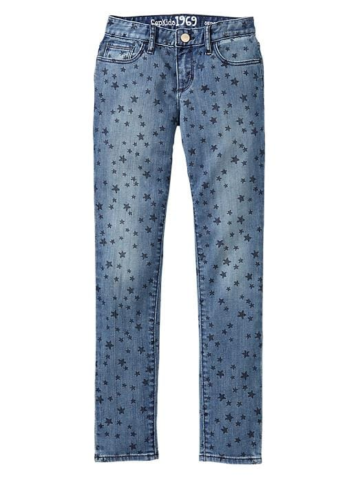 Gap 1969 Star Print Super Skinny Jeans - Medium wash - Gap Canada