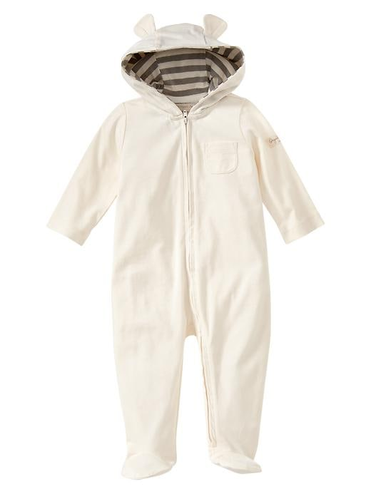 Gap Organic Bear Footed One Piece - Ivory frost - Gap Canada