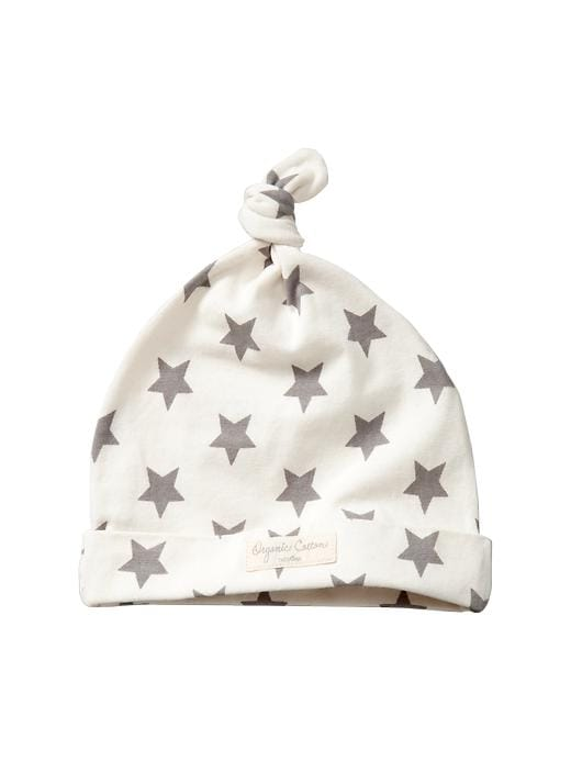 Gap Organic Printed Knot Hat - Ivory frost - Gap Canada