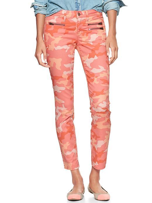 Gap 1969 Camo Front Zip Always Skinny Jeans - Pink camo - Gap Canada