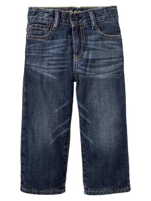 Gap Fleece Lined Loose Fit Jeans - Dark wash - Gap Canada