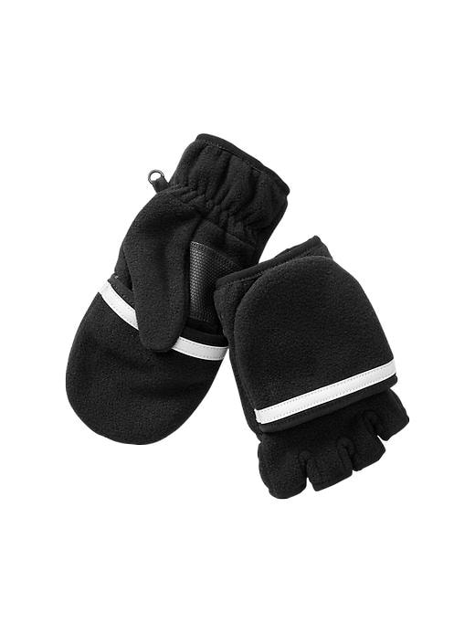 Gap Pro Fleece Convertible Mittens - True black - Gap Canada