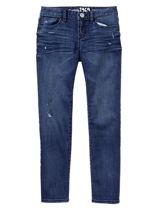 Gap 1969 Destroyed Straight Jeans - Medium wash - Gap Canada