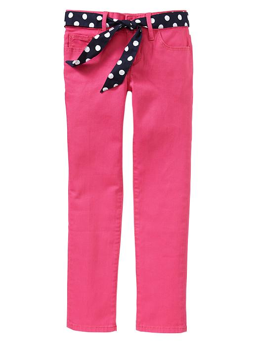 Gap 1969 Belted Pink Super Skinny Jeans - Royal fuchsia - Gap Canada