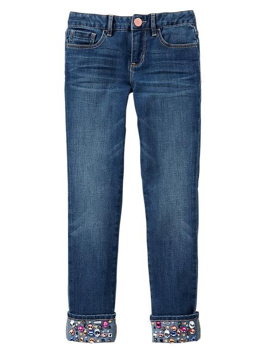 Gap 1969 Jewel Cuff Super Skinny Cropped Jeans - Medium wash - Gap Canada