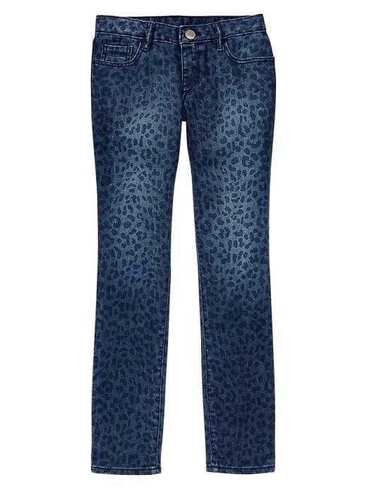 Gap 1969 Leopard Super Skinny Jeans - Dark wash - Gap Canada