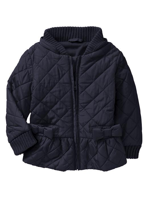 Gap Quilted Puffer Jacket - Blue galaxy