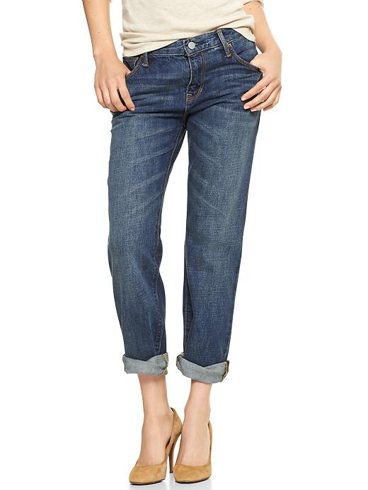 Gap 1969 Destructed Sexy Boyfriend Jeans - Koko wash - Gap Canada