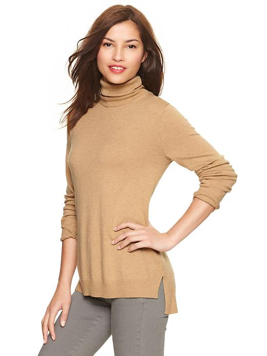 Gap Eversoft Turtleneck Sweater - Novelty cashew crunch - Gap Canada