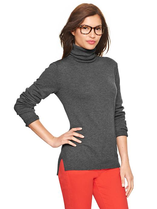 Gap Eversoft Turtleneck Sweater - Charcoal heather - Gap Canada