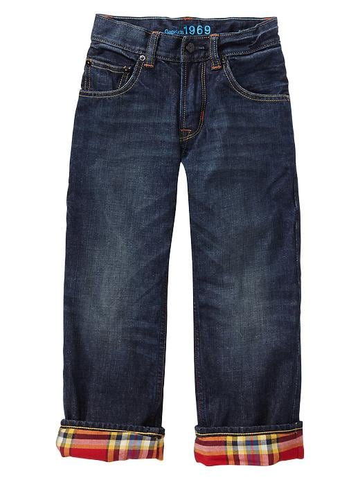 Gap 1969 Plaid Lined Slouch Jeans - Denim - Gap Canada
