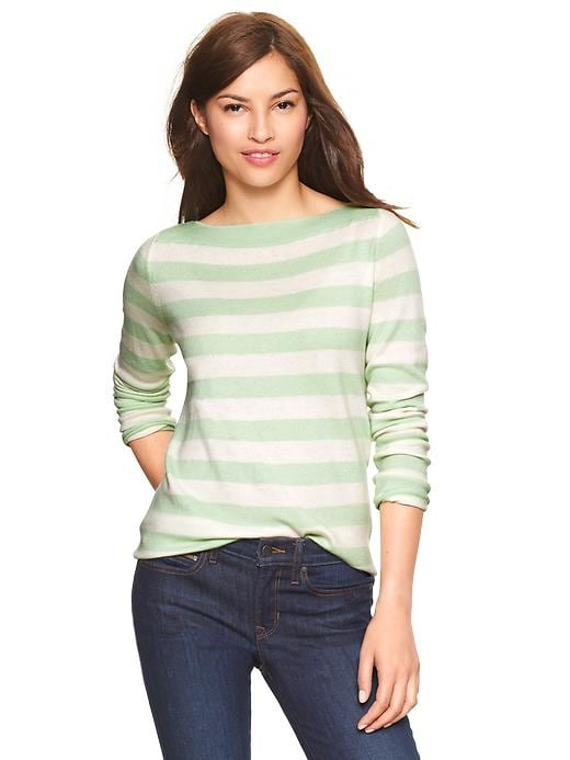 Gap Eversoft Envelope Neck Striped Sweater - Icy mint - Gap Canada