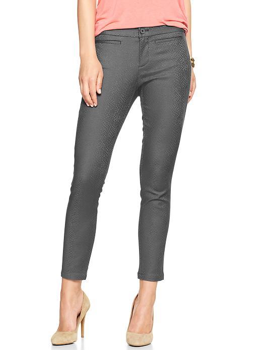 Gap Jacquard Super Skinny Skimmer Khakis - Charcoal jacquard