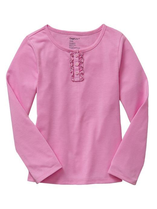 Gap Ruffle Trim Pj Top - Glowing pink