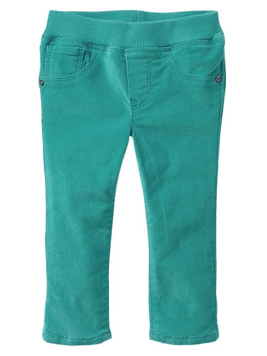 Gap Corduroy Knit Waist Jeggings - Green mirage - Gap Canada