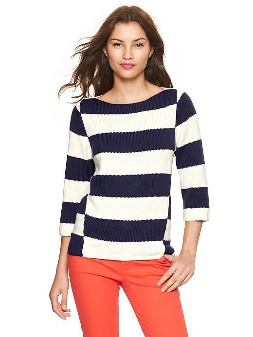 Gap Mix Stripe Boatneck Sweater - Navy stripe - Gap Canada