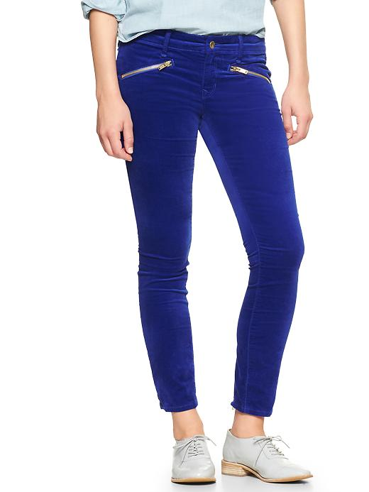 Gap 1969 Velvet Always Skinny Skimmer Pants - Becca blue - Gap Canada