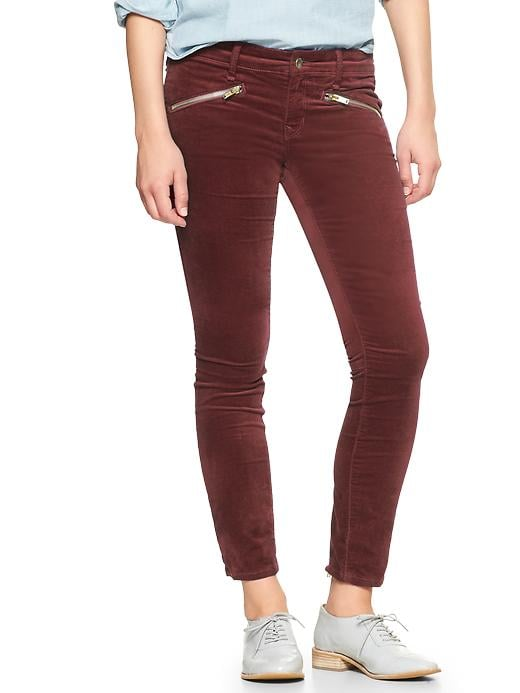 Gap 1969 Velvet Always Skinny Skimmer Pants - Cherrywood - Gap Canada