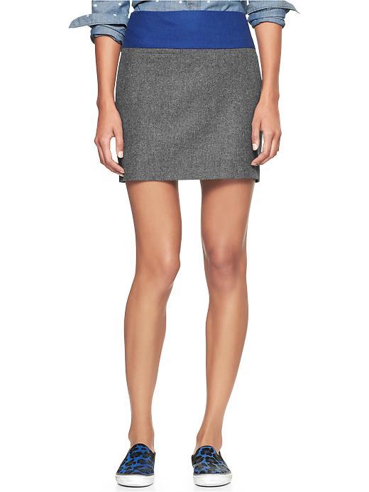 Gap Two Tone Wool Mini Skirt - Charcoal - Gap Canada