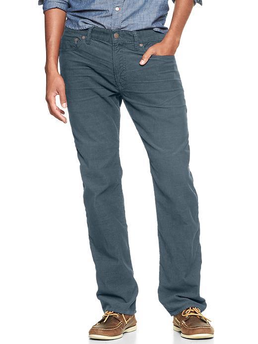 Gap 1969 Five Pocket Cord (Straight Fit) - Grey blue - Gap Canada